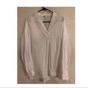 UNIQLO oversized white shirt
